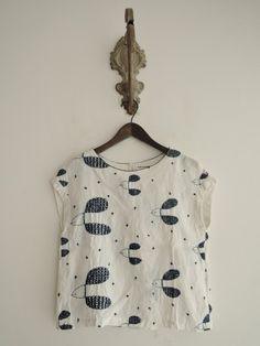 ミナペルホネン mina perhonen plover リネン刺繍ブラウス size38 (30-1510-290) /ナチュラル服古着通販drop