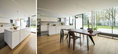 Projects: Kitchen in corian. table EM by Vitra  Design project  Renovation and interior design of a modernist villa with garden.    Location: Turnhout, Belgium  Floors: one    Interior design and furniture sourcing:  Filip Versmissen with Master Meubel   Steenweg op Diest 111, Turnhout  Tel: 0032 (0) 14 41 61 13  Email: master@mastermeubel.be    www.mastermeubel.be      Photos:  Copyright Master Meubel