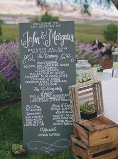 Rustic chic wedding ceremony program idea - Deer Pearl Flowers