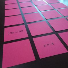 Post about Equation and Inequality Memory games for upper elementary or middle school math! Love using these for math centers! Math Teacher, Math Classroom, Teaching Math, Teaching Ideas, Teacher Stuff, Classroom Ideas, Teaching Tools, Future Classroom, Math Resources
