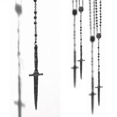 Dagger Rosary, by Pamela Love #jewelry #jewellery #accessories #goth #rosary #dagger #silver #sharp #pamelalove