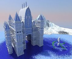 Stronghold of the Snowy Seahorse Minecraft World Save