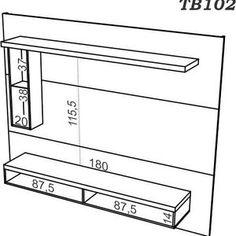 Painel para TV Dalla Costa TB102 Nobre Fosco Modern Tv Cabinet, Tv Cabinet Design, Modern Tv Wall, Tv Unit Design, Tv Wall Design, Ceiling Design, Wooden Pallet Furniture, Tv Furniture, Tv Wall Panel
