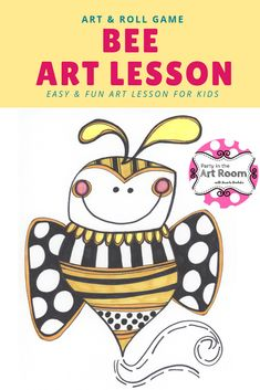 Art Lesson: Bee | Art Project for Kids with Writing Activities  Engaging art lesson with language (writing) activities. These no-prep art projects are perfect for your art sub tub. Super easy to implement for substitute teachers. Plus, the engagement will help with behavior! Perfect to start your art integration activities or to use as mini-lessons in larger units. Use as writing prompts and center printables. Great for homeschooling, language arts teachers, and art teachers alike.