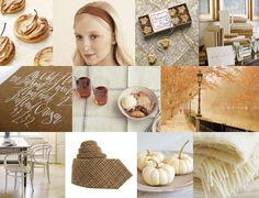 Mood: clean and cozy autumn sophistication  Palette: maple sugar caramel, warm white