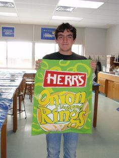 Pop Art Giant Snack Bag, grade 8