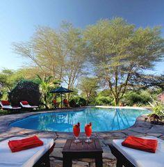 Swimming Pool at Tortilis Camp - Kenya