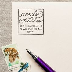 Boxy Script - Self-inking Stamp – The Chatty Press