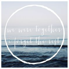 We Were Together   Typography  Summer  Travel by AliciaBock