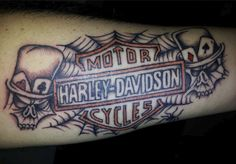 Harley-Davidson spiderweb tattoo shared by our fan Rocco L.