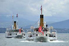 Steamer, Willis Tower, Paddle, Building, Travel, Geneva, Swiss Guard, Ships, Viajes