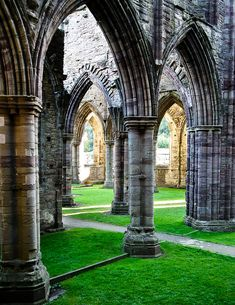 """visitheworld: """" Pillars Of The Earth, ruins of Tintern Abbey, Wales (by Steve Richards). """""""