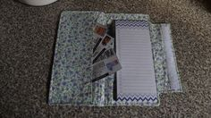 Shopping List Wallet with Coupon Pocket by BizzyBeeGifts on Etsy, $15.00