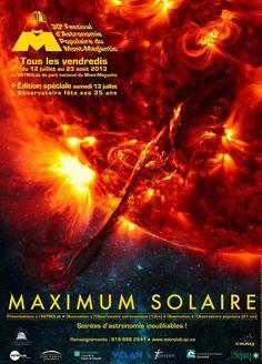 30ème Festival d'Astronomie Populaire du Mont-Mégantic. Movie Posters, Astronomical Observatory, Solar System, Popular, Astronomy, Film Posters, Billboard