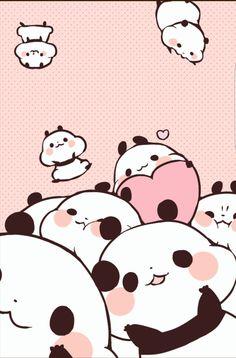 Most Popular Kawaii Panda Wallpaper For Xiaomi Panda Wallpaper Iphone, Cute Panda Wallpaper, Bear Wallpaper, Kawaii Wallpaper, We Bare Bears Wallpapers, Panda Wallpapers, Cute Cartoon Wallpapers, Griffonnages Kawaii, Panda Kawaii