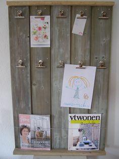 tijdschriftenbord van sloophout