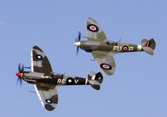 Spitfire duet at Temora, New South Wales, Australia.