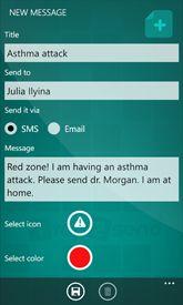 1tap2send app for Windows Phone www.1tap2send.com Windows Phone, Mobile App, Messages, Text Posts, Text Conversations