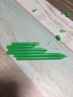 ①ストローで竹を作ります