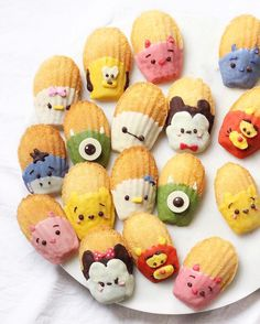 Chocolate dipped Tsum Tsum madeleines by Michelle Lu (@sweet_essence_)