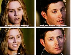 "[SET OF GIFS] ""You carry all kinds of crap you don't have to, Dean.""  7x04 Defending Your Life"