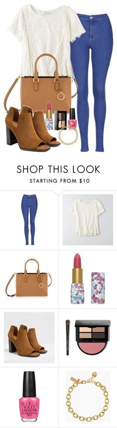 """""""Untitled #2352"""" by abigailtaylor ❤ liked on Polyvore featuring Topshop, American Eagle Outfitters, Henri Bendel, tarte, Zara, Bobbi Brown Cosmetics, OPI, Kate Spade, women's clothing and women"""