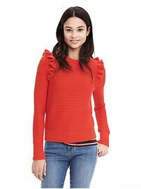 Ruffle Pullover Sweater
