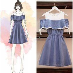 Girls Fashion Clothes, Fall Fashion Outfits, Look Fashion, Korean Fashion, Fashion Drawing Dresses, Fashion Illustration Dresses, Fashion Dresses, Drawing Fashion, Girly Outfits