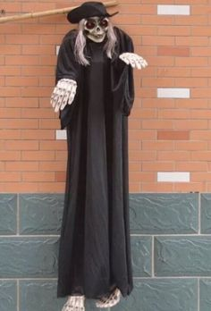 """Halloween Hanging Skeleton Ghost Props Scary Glow Eyes Spooky Decor 4' 11"""" #halloween #scary #ghost"""