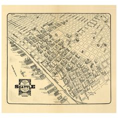 Bird's Eye View of Seattle's Business District from 1903