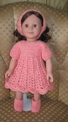 18 Doll Crocheted Clothes Handmade Doll Clothes Hand