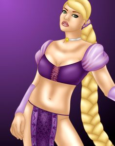 Rapunzel - Warrior Princess by FalseDisposition.deviantart.com on @deviantART