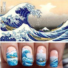 Wave nail art