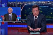 "Stephen Colbert just did the impression that could forever define Bernie Sanders - http://www.salon.com/2015/10/15/stephen_colbert_just_did_the_impression_that_could_forever_define_bernie_sanders/ (YES, you have to mop up after he speaks. As my daughter's friend says, ""It gets me to gagging."" Sit further away than spitting distance.)"