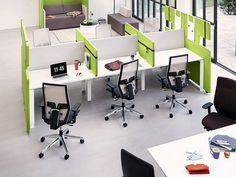 Столы с перегородками в офис - Team Work Space - http://mebelnews.com/stoly-s-peregorodkami-v-ofis-team-work-space