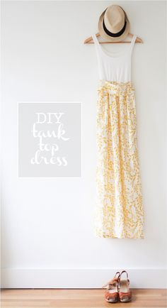 DIY tank top dress w