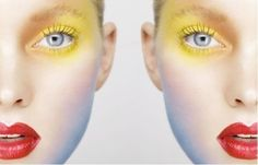 Creative Influences: Yellow Eyeshadow or the Face as Canvas