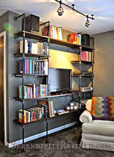 casa de fifia blog de decoração : estante estilo industrial faça você mesmo com tuto...