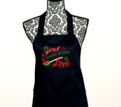 Secret Ingredient Is Love Apron Embroidered by AGiftToTreasure