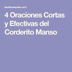 4 Oraciones Cortas y Efectivas del Corderito Manso Prayers, Teaching, Quotes, Fractions, Pretty, Vestidos, Spell Books, Prayer For Health, Health Tips