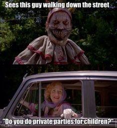 Twisty the clown AHS American Horror Story Season 4 Freak Show funny meme Coven, Movies Showing, Horror, Movies, Favorite Tv Shows, Scary Movies, Funny Horror, American Horror, Funny