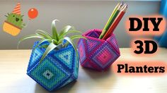 DIY 3D Perler Bead Geometric Planters - YouTube