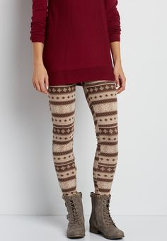 hacci legging in oatmeal snowflake print (original price, $20.00) available at #Maurices