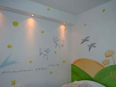 Bettina is waiting for her little Prince to arrive (any day now) and she wrote us to share her beautiful nursery inspired by Antoine de Saint-Exupéry's classic The Little Prince.