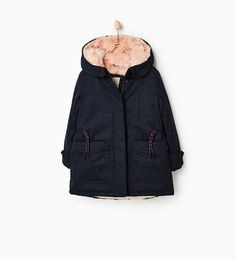 Image 1 of PINK FAUX FUR PARKA from Zara