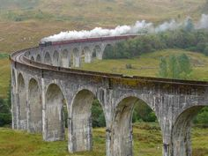The most beautiful bridges around the world. Scotland. Train Jacobite on Glenfinnan viaduct. - Serjio74/Getty Images