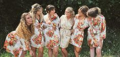 Bridesmaid Robes/ Set of 10 Robes// Wedding Party Gift/ Bridal Party Robes/ Bridesmaids Robes/ Select from 11 Colors! Bridal Party Robes, Gifts For Wedding Party, Bridal Gifts, Bridesmaid Robes, Bridesmaids, Monogram Initials, Kimono Top, Cover Up, Trending Outfits