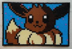 Eevee Pokemon perler beads by GeekofMine
