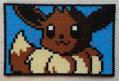 Eevee Pokemon perler beads by GeekofMine