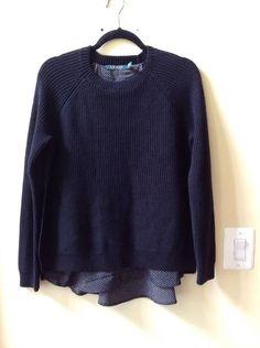 Nwt Ralph Lauren Women's Multi-color Cotton/Poly Long Sleeve 2fer Sweater Size M #LaurenRalphLauren #Crewneck